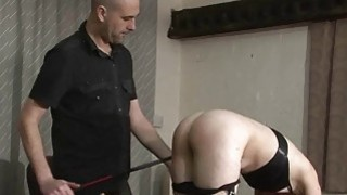 Amateur bdsm and bedroom spanking of submissive Fa image