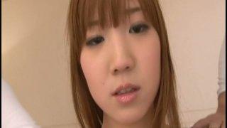 Hot Japanese slut Chisato Mukai is fucked by two horny dudes image