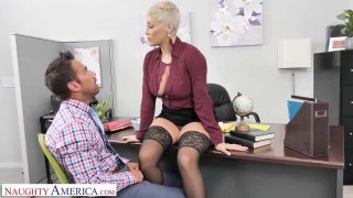 Brenda Philips (Ryan_Keely) Gives Her Employee a Big Raise in His Pants image