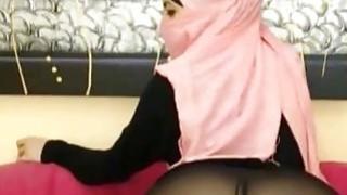 Real Arabian Hijab Teen Masturbates Her Juicy Pussy On Webcam image