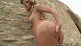 Hot blonde girl Blue Angel is playing_with twat image