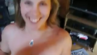 Curvy Woman Blowing Her Mans Cock image