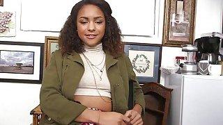 Ebony Chick Nicole Riding White Schlong_In Office image