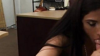 Latina woman pawns a Cello and pounded to earn extra money image