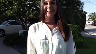 Sexy brunette realtor fucks her client while she is on_duty image
