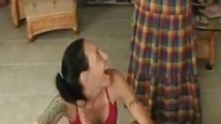 Mom catches daughter giving blowjob to her son - Hotmoza.com image