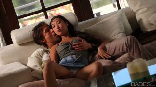 Amazing Korean chick Sharon Lee seduces a man and pleases his tool image