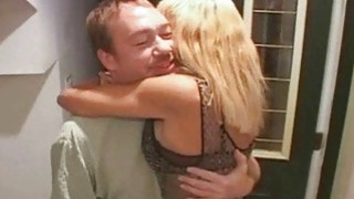 Blonde Trophy Wife Fucked by Two Cocks image
