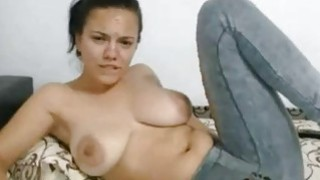 Big Tit latina Fingers pussy Under The Jeans image