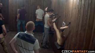 Huge tits for amateurs in glory hole room ◦ class room xvideos Xxx scene image
