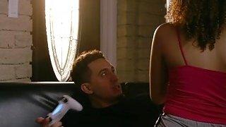Sweet hottie babe Mariah Banks having a big dick image