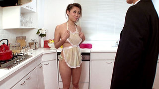Girl Housewife Begs For Cum In The Kitchen image
