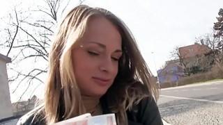 Blonde Eurobabe gets slammed in public image