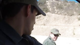 Redhead Babe Fucked By Border Patrol Agent image