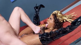 Demi Sutra gets_her pussy_drilled by the hard cock image