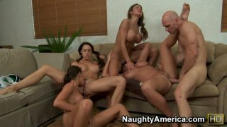Group sex including Chanel Preston & Hunter Bryce & Kourtney Kane & Sadie Swede image