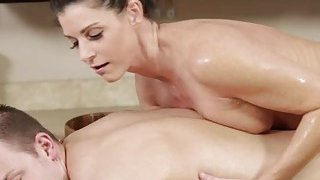 MILF and brunette India Summer gets hammered after closing the spa image