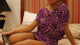 Petite Brunette Thai girl fucked hard in POV by a big cock image