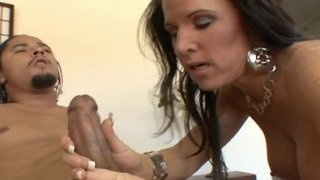 Mature hottie Kendra teased and hard fucked with big black cock image