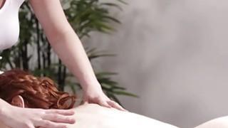 Image: Big tits Veronica walks inside the massage room for a massage