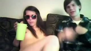 Drunk and slutty chick_has position 69 on webcam image