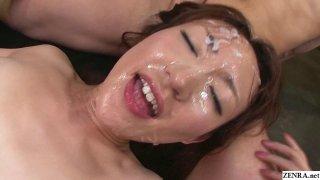 Uncensored JAV Myuu Bareback Bukkake Sex Party image