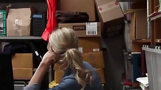 Blonde Thief Gets Banged From Behind In Office image
