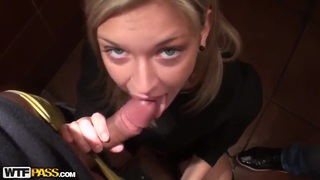 Hot blondie Yuki getting fucked in a public place to earn some money image