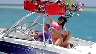 Curvy badass babes enjoyed kite surfing while all naked image