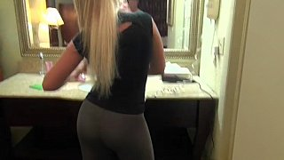 Bent over and fucked in the bathroom image