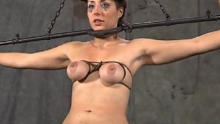 Tied up slave gets pleasuring her wicked twat image