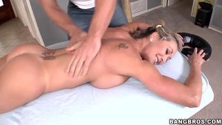 Mature Brandi Love relaxes after naked yoga image