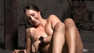 Tied up beauty acquires gratifying for her pussy image