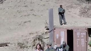 Slim teen Hannah Hartman deepthroats border patrol agent image