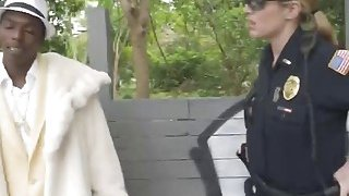 Busty All Natural MILF Cops Arrested And Fucked Young Black Stud image