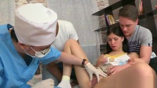 Dude assists with hymen physical and drilling of virgin teen image