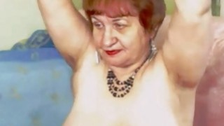 Horny redhead granny touch her mature pussy on cam image