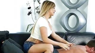 Big boobs masseuse sucks off clients shaft after massage image