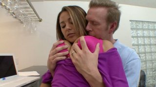 Mark Wood ejects sperm on the boobs of horny Penelope_Piper image