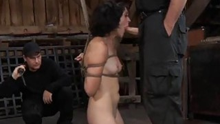 Tied up slave acquires_pleasuring her naughty cunt image