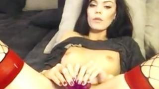 Horny brunette Webcam Toying image