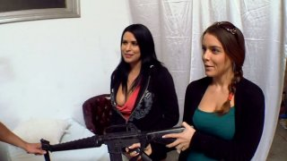 The freak show gangbang with Natasha Nice, Haley Sweet and Lacie James is about to start image