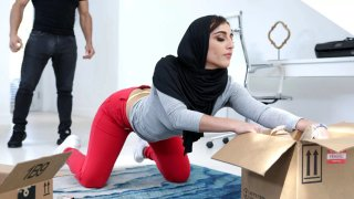 Hottie_in_Hijab_manhandled_by_her_sister's_stud image
