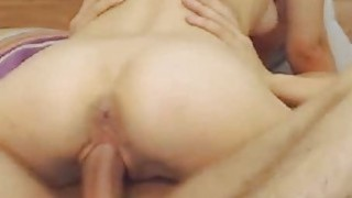Hot Petite Babe Sucks And Rides His BF Cock image