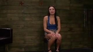 Hot babe Isa Mendez gets fucked in_wild bondage action image