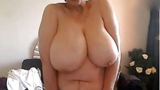 50 years old and showing my big naturals on webcam image