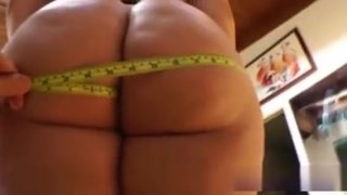 Plump Babe Gets Big Ass Measured image