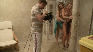 Silvia Saint licking pussy behind the scene video image