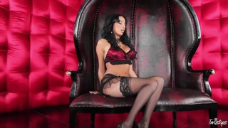 Anissa Kate spreading in lingerie image