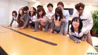 JAV huge group sex_office party in HD Subtitled image